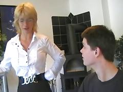 German MILF Finishes Young Man With A Blowjob
