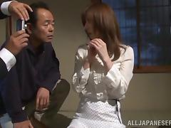 Mature Reiko Sawamura gets tied up and toyed with a dildo