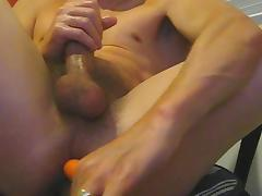 Carrot fuck my cock and ass