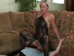 Heels, Ass, Ass Licking, Blonde, Blowjob, Bodystocking
