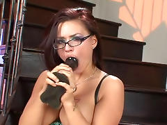 All, Dildo, Glasses, HD, Masturbation, Pornstar