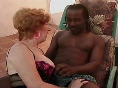 Grandma, Hairy, Grandma, Big Black Cock