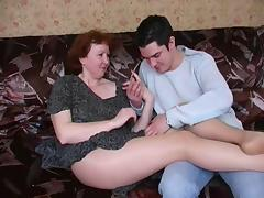 Russian, Amateur, Hairy, Mature, Mom, Pantyhose