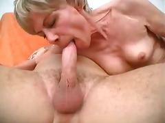 Grandma Loves His Hard Cock porn video