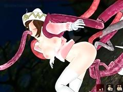 Tentacle, Anime, Hentai, Monster, Pussy, Slave