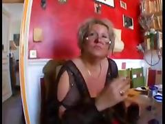 Horny Granny Eats an Asshole out And Gets Pussy Plowed
