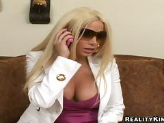 Gina Lynn blows and gets stunningly fucked doggy style