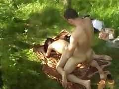 Russian anal sex in nature