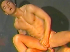 Gays with muscles fuck doggy style