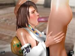 Anime hottie blowing and tit fucking dick gets jizzed