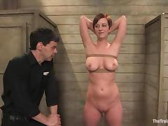 Cherry Torn feels glad to be fucked while in fetters