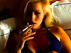 Cigarette, Blonde, Fetish, Masturbation, Mature, MILF