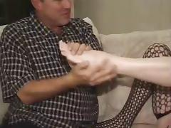 Mature Kari Kums Gives Great Footjob