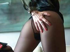 Nylon, Cum, Nylon, POV, Stockings, Jizz
