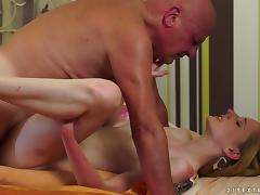 Blonde, Blonde, Couple, Creampie, Old Man, Missionary