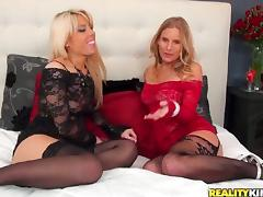 Loren Nicole enjoys toying her blonde GF's delicious pussy