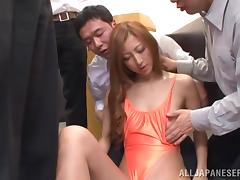 Reira Aisaki the office girl gets fucked hard by her colleagues