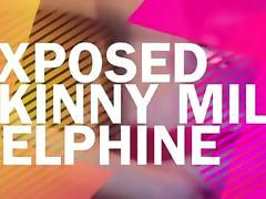 Exposed Skinny MILF Delphine