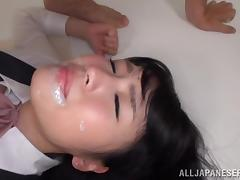 Satomi Nomiya gets fucked from behind and enjoys a facial