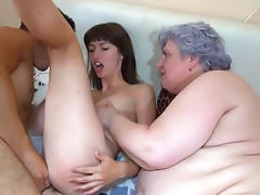 Taboo, BBW, Blowjob, Brunette, Couple, Fat