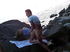 Splendid teen gets banged on the beach