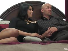 Equal sex with a smoking hot brunette tranny Jamie Page