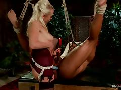 Pegging Femdom Interracial Video with Cock Sucker Lorelei Lee