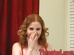 Cherry Poppens blows and gets her mouth filled with jizz