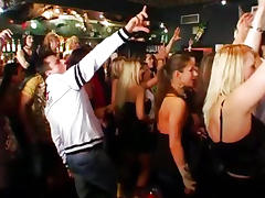 Sinfully chicks dancing and fucking in club