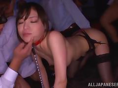 Japanese Erina Fujisaki Sucking Lots of Cock in Gangbang