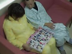 Chubby girl in Japanese hardcore action in hospital
