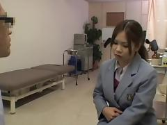 Kinky hot medical exam for a smoking hot Japanese gal