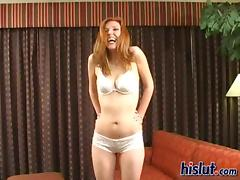 Sally is a cheap ginger whore addicted to cum