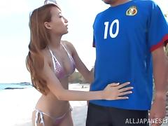 Beach adventures with a juicy Japanese lust Claire Hasumi