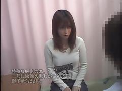 Hidden camera is recording gyno medical examination of teen