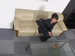 Petite Japanese fucked passionately on a spy cam video