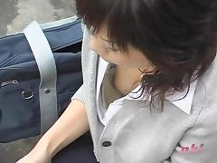 Stylish Asian sexy chicks in the middle of really fantastic downblouse video porn video