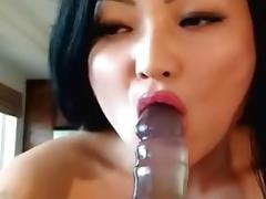 Asian broad drilling hard her yoni