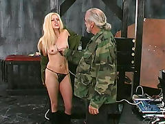 Army, Army, BDSM, Blonde, Bondage, Boobs