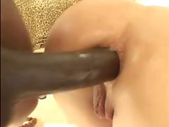 Black Cock in her Blonde Ass