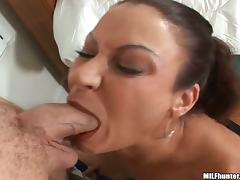 Deepthroat from a sexy milf ends up with some wild fucking
