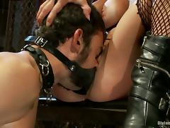 Felony Forcing Guy to Eat Her Pussy after Strapon Fucking Him in Bodnage