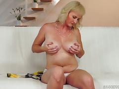 Busty Blond Mature Slut Enjoys Getting Her Asshole Toyed and Fucked