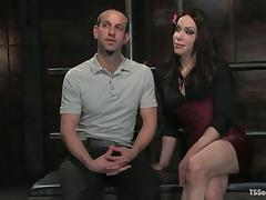 Jason Miller gets humiliated and fucked by sexy tranny La Cherry Spice
