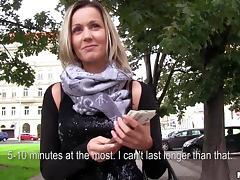 Czech, Blonde, MILF, Money, Outdoor, Public