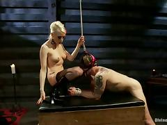 Cock Ride and Torture after Pegging by Lorelei Lee in Femdom Vid porn video