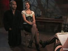 Dominant Bobbi Starr Spanking Guy in Bondage Femdom Session porn video