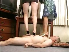 2 Goddesses Trample, Foot and Heel Fetish porn video