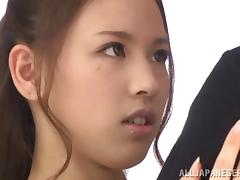 Sexy and petite Reina Takagi gets drilled and jizzed hard porn video