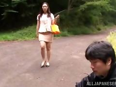 Outdoor porn video with a kinky Asian slut Mika Nanase